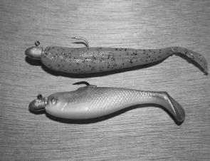 "The 4"" Minnow and the 3"" Pogy from the Berkley Gulp range are dynamite on flathead."
