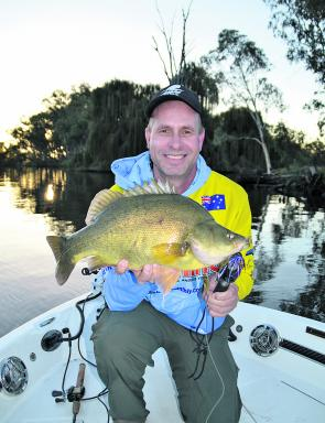 Peter Jung used the Larson on our test day to nail this 54cm golden perch on a spinnerbait. With two fishing up front it was a dream boat to fish from.