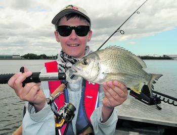 The Brisbane River fished well over winter. Luke lured this quality bream from its waters recently.