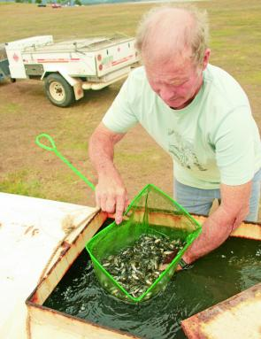 Thousands of bass fingerlings were released into the Lake at the close of the competition.