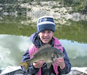 Curtis with a chunky bream taken at Nelson.