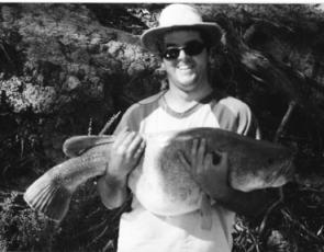 Ben Barthelson cradles a lovely Murray cod taken near Fairley Road.