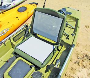 Comfortable, ventilated and dry – the Pro Angler's seat is very different to other sit-on-top kayaks.