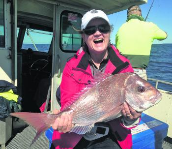 A quality snapper taken on a trip with Shane Crockett's Sport & Game Fishing out of Forster.