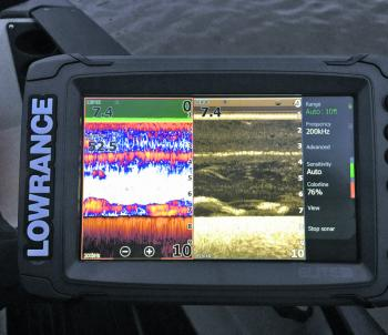 Paul Malov's quality electronics demonstrate the fresh water layer and fish activity below. (Photo courtesy of Paul Malov)