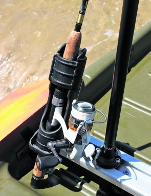 The Rod Holder II allows you to lock additional rods securely in place.