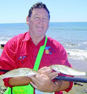 Whiting were everywhere along Facing's open beaches and Macca's Alvey was ready for them.