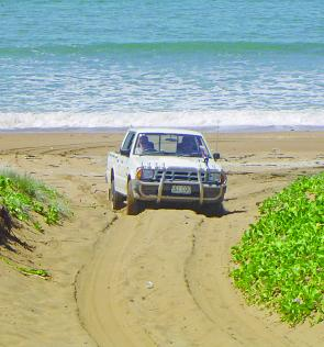 The beach access tracks are always soft but fairly easy work for most 4WD vehicles.