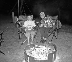 Camping is lots of fun and you can cook your catch on the camp fire.