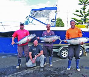 Dan, Dave Zoc and Martin of Melbourne with a nice catch of SBT.