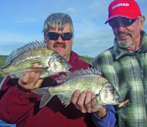 Graeme Toogood and Gary Clarke with a nice bream each after a double hook up.