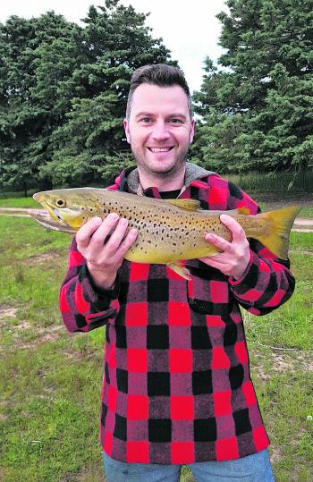 Brown trouts like this beauty are a popular catch!