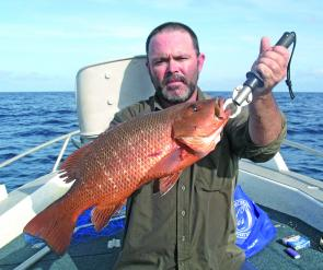 When Sonny Seimer from Broken Hill visited Townsville he managed to snag this good jack from a secret rock face.