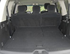 Enormous load space is a feature of the new eight seater Patrol wagon.