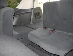 The Patrol's third row of seats feature a handy split fold capability.