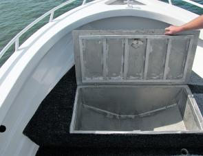 A large forward hatch is suited to many storage chores, including the catch.