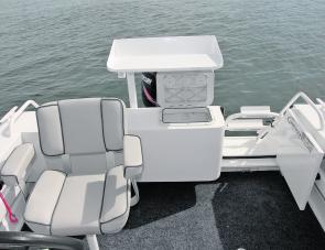 Looking astern it's easy to note some of the fishing-orientated features within the Trailcraft 500 PF, including the plumbed live well.