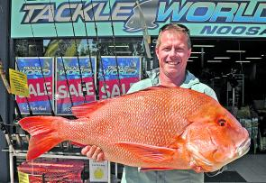 Tom Hobelt from Tinbeerwah won the $50 Davo's Fish of the Week prize with this thumper 15.5kg red emperor from the Barwon Banks.