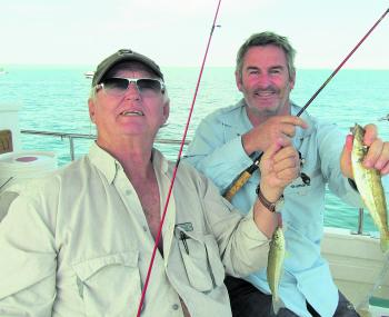 Two of the author's friends, Ron 'The Whiting Master' and David, love whiting fishing.