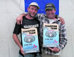 Darryl Baird and Jason Sellings from Team Ever Hopeful celebrate the victory