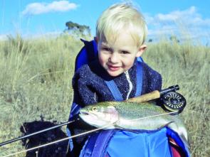 Poor Dad's babysitting afternoons in November a few years ago involved fly fishing with young son Murray on his back. These days he's 20m in front of the author and catching all the fish.