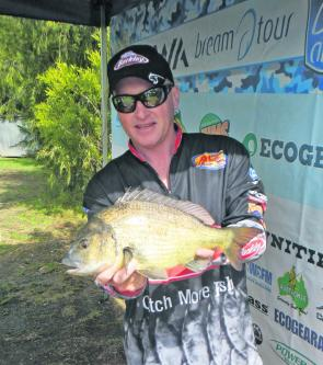 Event Big Bream (1.49kg) winner Shane Dyason was stocked with his big fish.