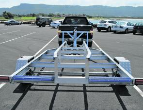 The purpose built aluminium trailer in make for simple drive on, drive off launching and retrieval.
