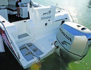 While the Formosa 6.2 Tomahawk is rated to 175hp, the Honda 150 supplied ample power and was extremely frugal on fuel.