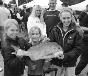 Some happy juniors with a great fish from last year's event.