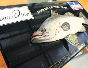 This is what every angler had their eye on: the Angler of the Year trophy.
