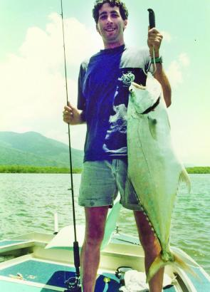 Quality winter queenfish taken on light tackle spin outfit in the Russell River south of Cairns.