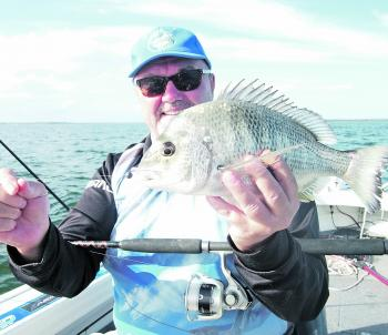 Bill McGuire with a stonker bream caught while fishing with the author at the end of the third runway.