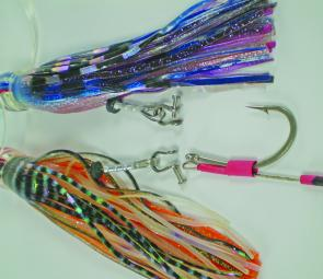 Shackles allow easy changing of hook rigs from one lure to another.