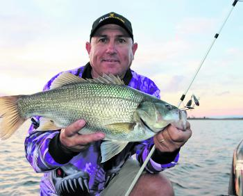 Adam Krautz landed some quality bass fishing Somerset Dam's Pelican Point. The standout lure was the Jets 18g tail-spinner in the swamp monster colour.