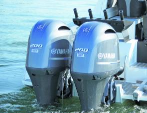 Twin rigged set-ups are very popular for offshore anglers and those looking for high horsepower with the efficiency of an outboard.