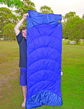 Roman aren't kidding when they say that this sleeping bag is for big blokes – just look at the length of it.