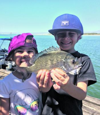 Van and Jayla with a recent catch. More bream have been starting to show up in recent weeks.