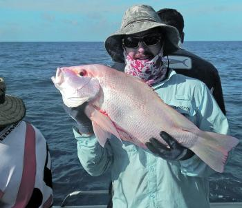 Tim Kreis caught this largemouth nannygai out on the reef.