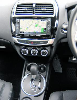 A very user-friendly Sat Nav system is a feature of the LS diesel ASX.