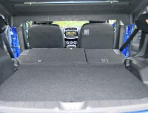 With rear seats down, the cargo area of the ASX is quite capable of handling quite long loads.