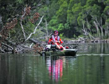 The banks of the Betka River are littered with fallen timber, perfect fish holding structure and home to many big bream and perch. Photo courtesy of Darren Weda.