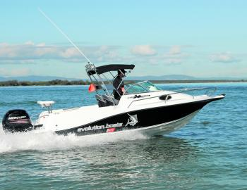 The Evolution 552 powered by a 150 Mercury 4-stroke is a compact glass craft that has sufficient desirable attributes to qualify it as an all rounder.