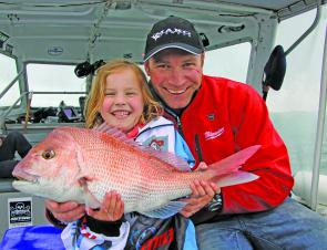 Poppy Blake with her PB snapper and a smile that'd make her dad Gawaine proud.