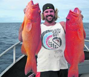 A pair of quality coral trout caught by Joel on the Keely Rose.