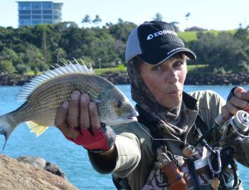 The author with another solid Tweed River bream.