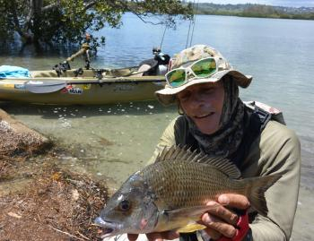 A kayak is great way to access skinny water bream water.
