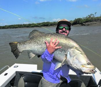 Whopper barra are a real treat for anglers and they can be strong fighters too.