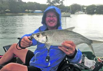 Andrew McCormack won the $50.00 Davo's Fish of the Week prize with the 58cm tarpon he caught and released in the Woods Bays.