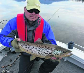 Drift spinning works very well in most of Tasmania lakes, and produces quality fish like this regularly.