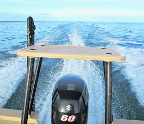Power pole, platform and fuel-efficient outboard make a good sportsfishing boat even better!
